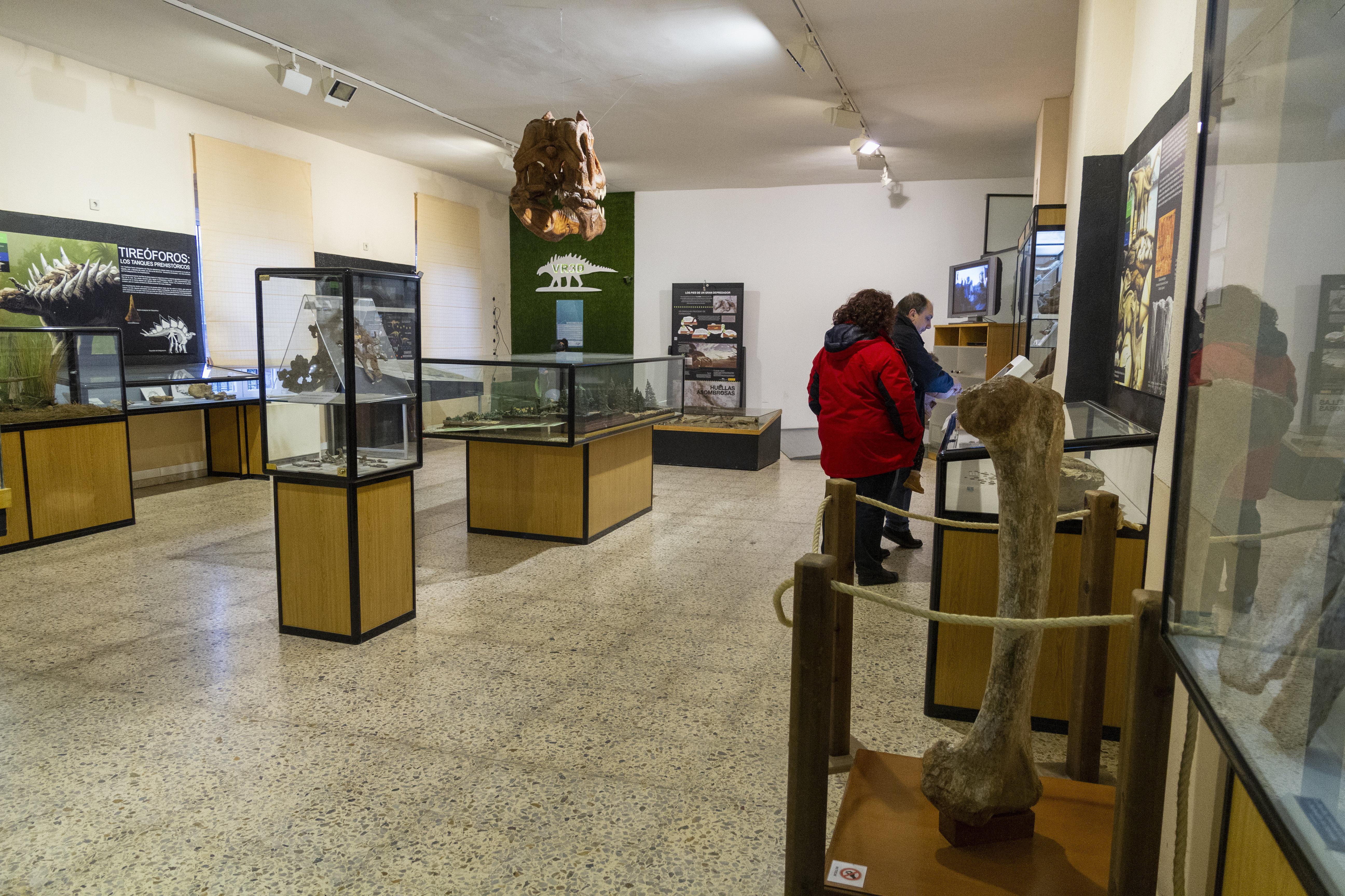 Interior del museo de dinosaurios